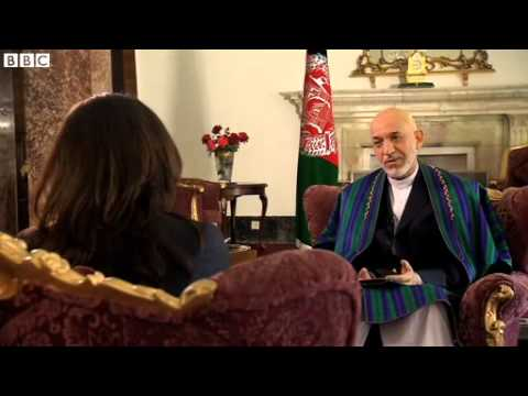 BBC News Hamid Karzai speaks exclusively to the BBCs Yalda Hakim