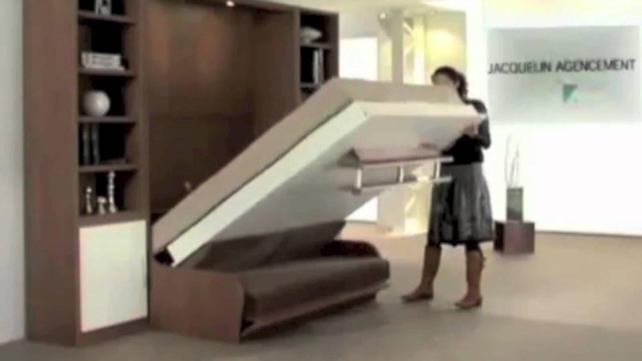 Lit escamotable couchage quotidien for Lit armoire escamotable rabattable
