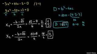 Iskanje ničel v kvadratni enačbi 2
