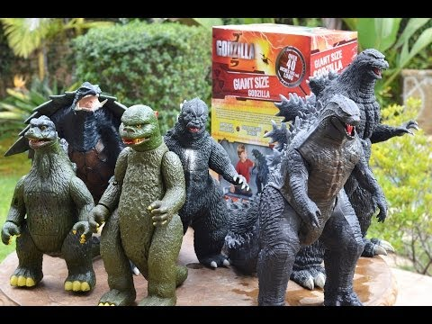 "40"" Jakks Pacific GIANT SIZE GODZILLA 2014 movie FIGURE REVIEW & COMPARISON. Bandai Popy"