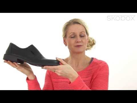 Skobox - Rieker hyttesko i sort glat skind til herre - Køb Rieker sko online