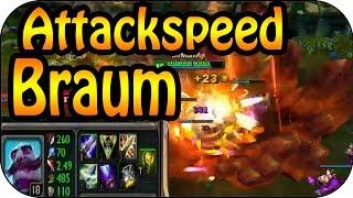★ Braum 2,5 Attackspeed Cap Top Lane Gameplay [german