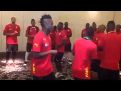 Brazil 2014: Ghana Black Stars singing praises (Jama) at Hotel