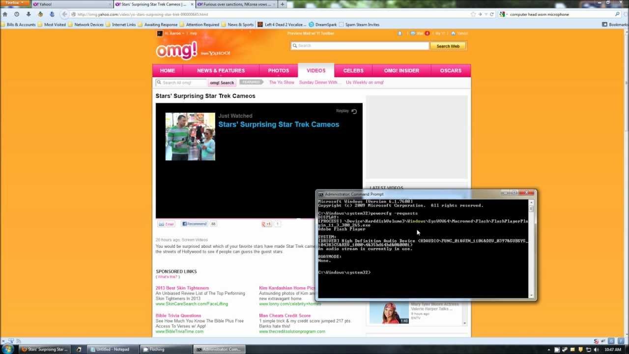 Screensaver Not Coming On Windows 7