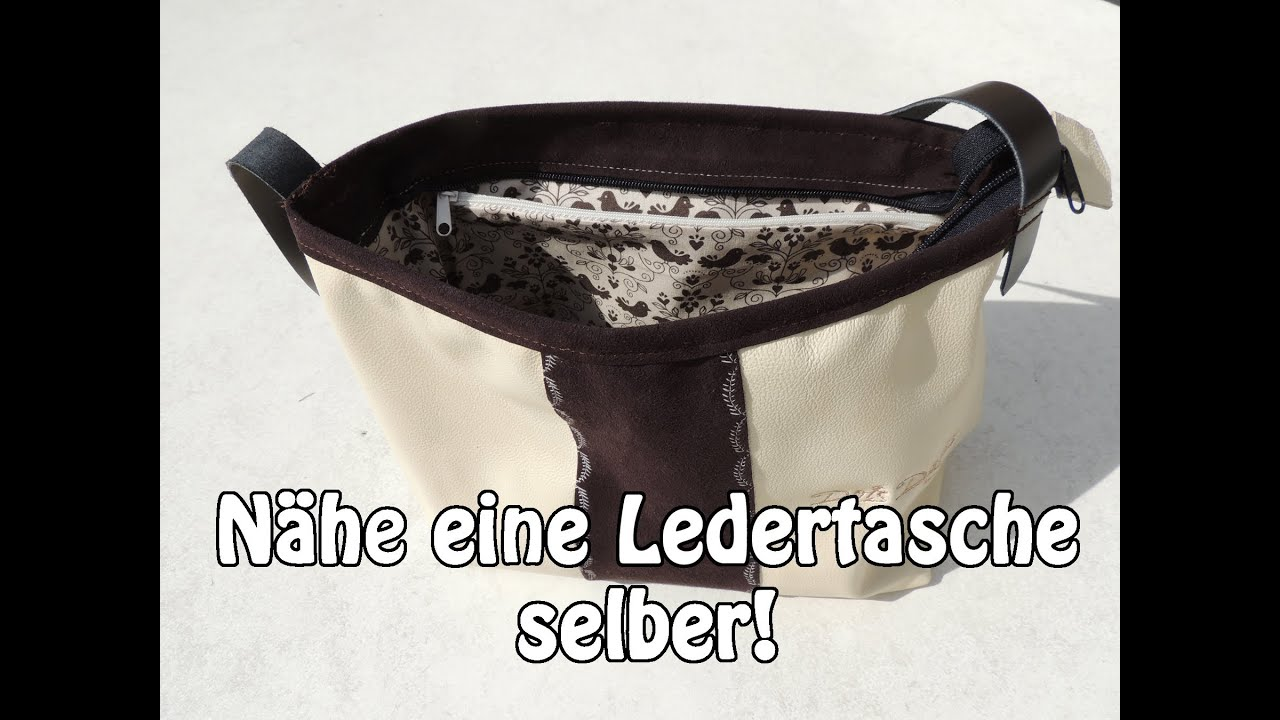diy ledertasche handtasche selber n hen n hen f r anf nger tutorial youtube. Black Bedroom Furniture Sets. Home Design Ideas