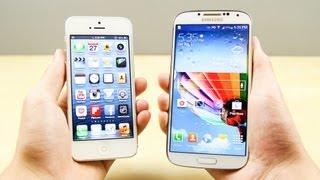 iPhone 5 vs  Galaxy S4 Karşılaştırma
