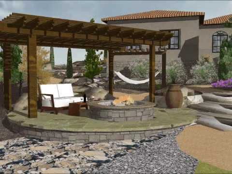 Sketchup 3d landscape design youtube for Garden design sketchup 8
