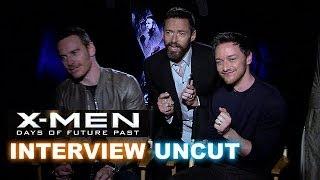 X-Men Days Of Future Past Interview! Jackman Photobombs