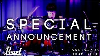 SPECIAL ANNOUNCEMENT! DRUM SOLO! Pearl Export Series Drums