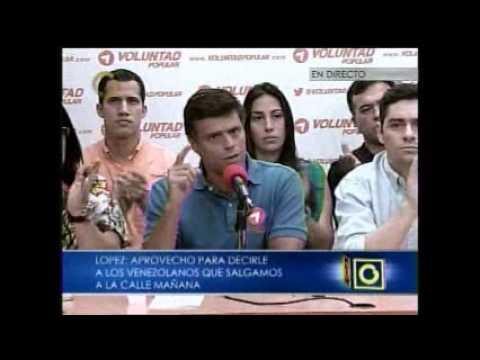 Leopoldo López le responde envalentonado a Maduro 28 06 2013