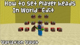 Minecraft How To Get Player Skulls / Heads With World