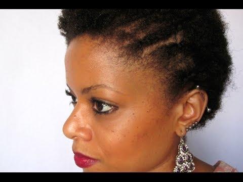 Penteado: Tranças laterais em cabelo crespo