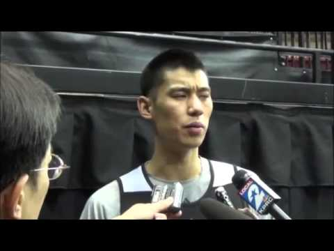 Jeremy Lin 2013.11.16 pre-game interview. Rockets vs Nuggets