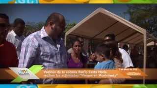 Llega el programa 'Viernes en Movimiento' a la colonia Barrio Santa María