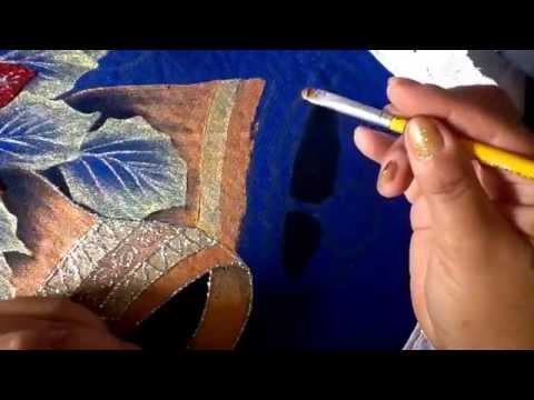 Pintura en tela campana de juego de baño tres con cony