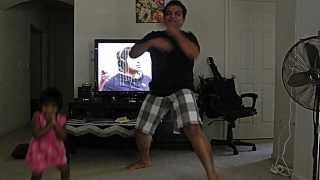 Texas : Baby dances for Katam Rayuda Song..
