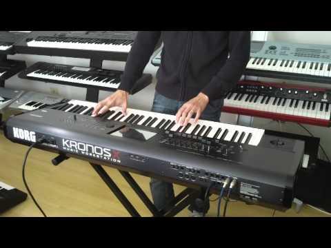 KORG KRONOS X 73 DEMO NA CLASSIC KEYBOARDS , COM O PIANISTA JONAS DANTAS