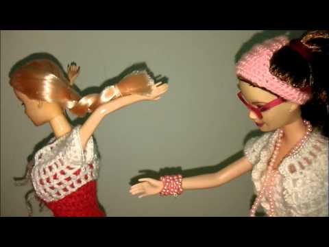 Tutorial Crochet Clothes Pattern Free For Barbie Doll ( cara / pola merajut )