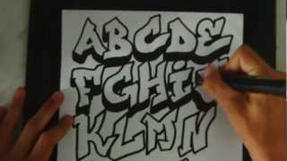 Speed Art Graffiti Alphabet 1 By ToM-2D