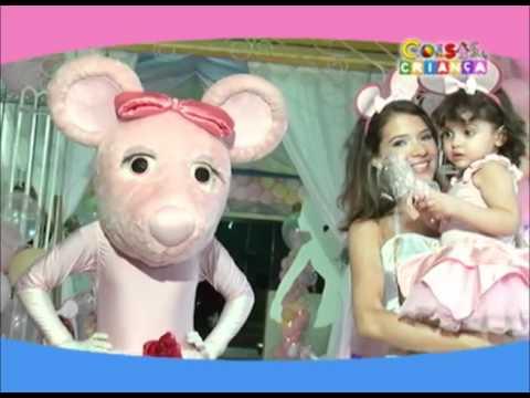 Coisas de Criança na TV Aniversário Nina Angelina Bailarina