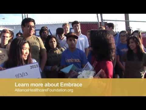 Embrace Receives $100,000 Grant from Alliance Healthcare Foundation