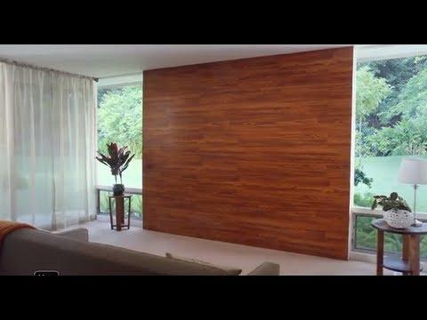Decora una pared con piso laminado youtube - Paredes de agua para interiores ...