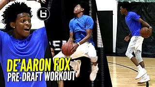 De'Aaron Fox NBA Draft Workout Session! Quickest Player In The NBA Draft??