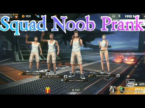 Squad noob prank/no character skill and no gun skin/semma gameplay/free fire/NCG.no chance gurunadha