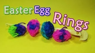 Rainbow Loom RING: Easter Egg Ring (jewelry, Easy)