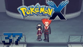 Let's Play Pokemon X Part 37 Team Flare HQ Lysander Battle