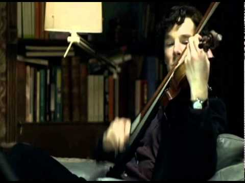 "BBC Sherlock- Sherlock ""plays"" violin"