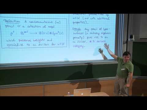 Paul Seidel - Lefschetz pencils and noncommutative geometry