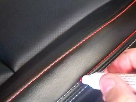 diy dyed interior stitching with fabric color pen smart or ghetto cars. Black Bedroom Furniture Sets. Home Design Ideas