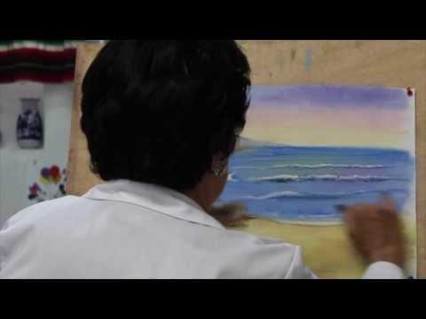 18. Dibujo y Pintura. Marina a Pastel.