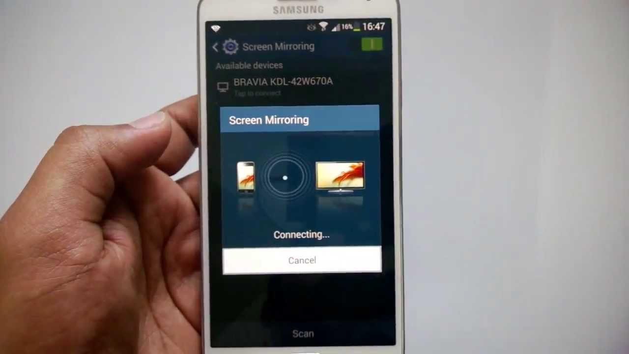 Screen mirroring on samsung galaxy note 3 youtube for Mirror for samsung tv license key