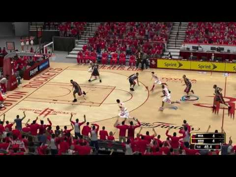 nba 2k13, miami heat vs houston rockets, superstar level, 3-1 for miami, first quarter