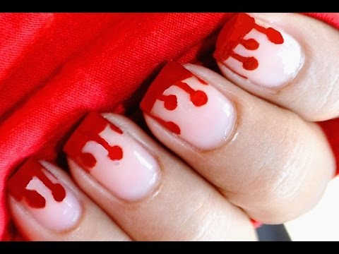 dripping blood nails  dresslink  halloween nail art kids