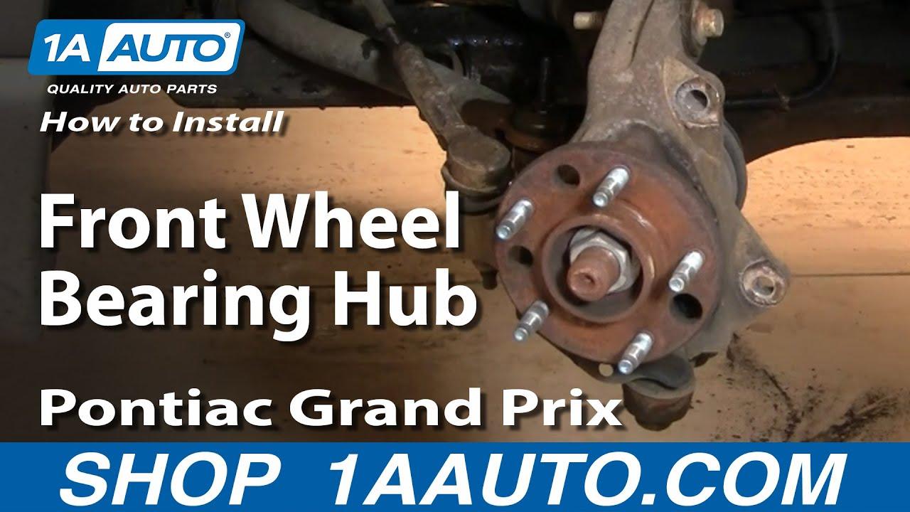 how to change a 01 pontiac montana wheel bearings
