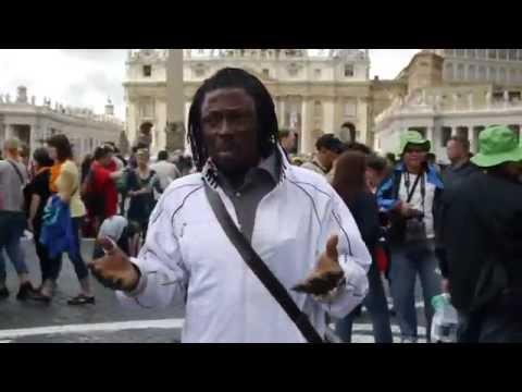 NANA Kwaku Bonsam  in Vatican City ROME ITALY WOOOOOOOOOO