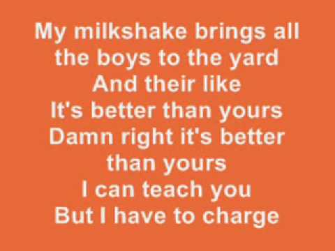 kelis milkshake lyrics youtube