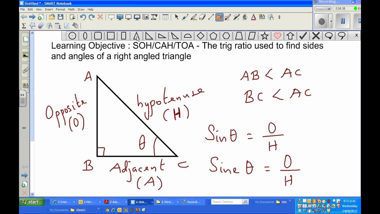 how to how to get angles from trig ratio