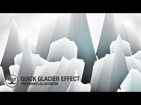 Photoshop + Illustrator Tutorial: Quick Glacier Effect