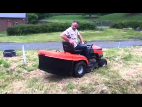 cutting grass with husqvarna cth 171 youtube. Black Bedroom Furniture Sets. Home Design Ideas