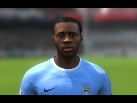FIFA 14 - Yaya Toure Face ( Manchester City ) HD 1080p