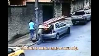 C�mera de pr�dio registra tentativa de furto no Bairro Nova Su��a, em BH