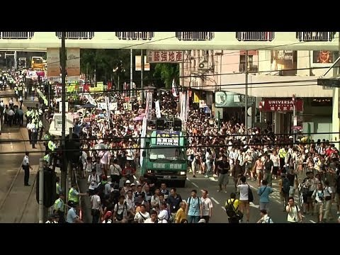 Protestors in Hong Kong Demand Full Democracy