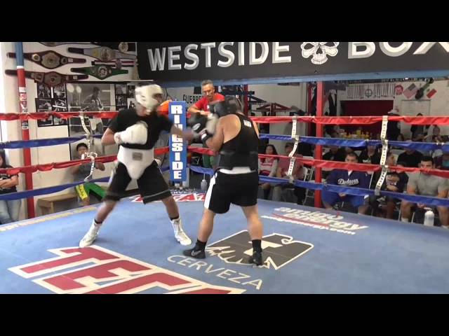 top prospect nick arse sparring at westside boxing EsNews Boxing