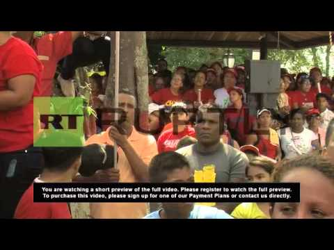Venezuela: Maduro attends celebrations for Hugo Chavez's 1992 prison release