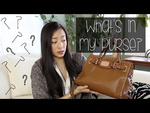 What's in My Bag (Michael Kors Satchel) | sarahhtranTV