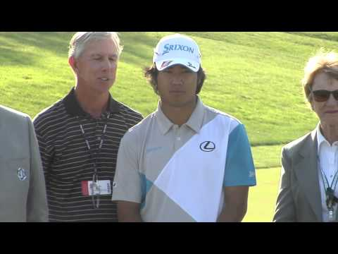 Hideki Matsuyama wins Memorial Tournament despite broken club